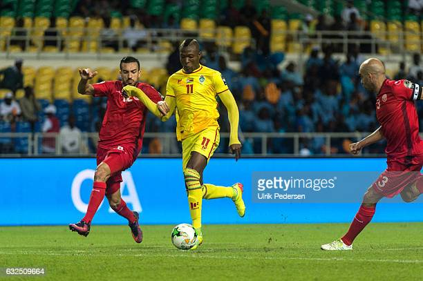 Tendai Passion Ndoro of Zimbabwe during the African Nations Cup match between Zimbabwe and Tunisia on January 23 2017 in Libreville Gabon