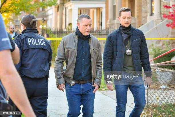 """Tender Age"""" Episode 803 -- Pictured: Jason Beghe as Hank Voight, Jesse Lee Soffer as Jay Halstead --"""