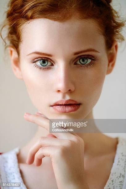 Tender portrait of a girl