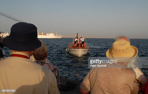 """Tender vom Kreuzfahrtschiff MS """"Astoria"""" und """"AIDA IV"""" auf Reede, Asien, Schiff, Wasser, Meer, Reise, BB, DIG; P.-Nr.: 603/2008, ;"""