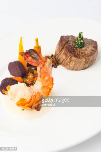 tenderloin beef cooking with french style on light and relax table