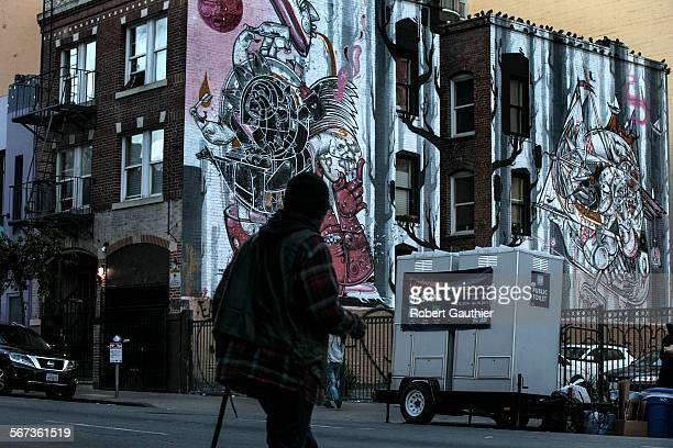 SAN FRANCISCO CA TUESDAY JANUARY 20 2015 Tenderloin Pit Stop toilets sit at the coner of Turk and Hyde Streets where one of three mobile human...