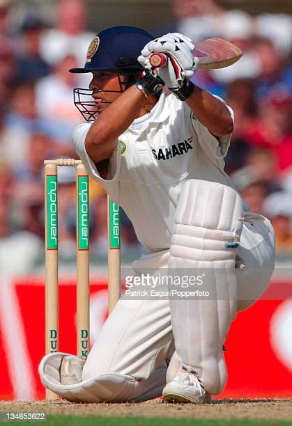 Tendulkar drives Tudor for 4, England v India , 4th Test, The Oval, Sep 02.
