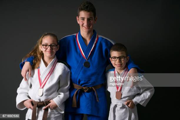 Teneger judo fighter boy and girl
