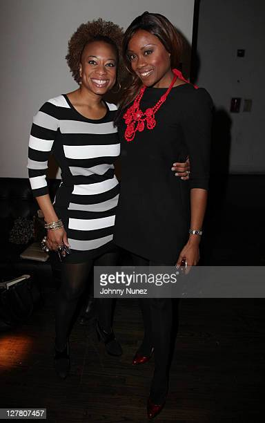 Teneisha Warner and Midwin Charles attend the WEEN Academy auditions at Terminal 5 on March 12 2011 in New York City
