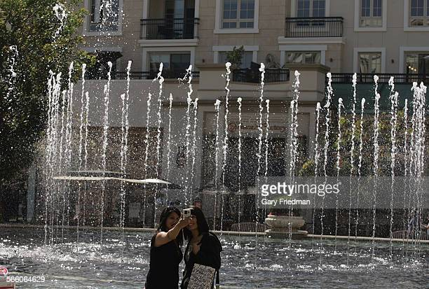 MARCH 26 2009 – Tenelle Chase and Gabriella Fonseca take a self portrait at The Americana at Brand Center on March 26 2009 The center open for a...