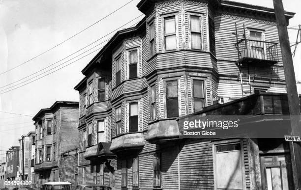 Tenements on Ford Street in Lowell which are to be demolished in the Northern Canal renewal project Oct 11 1965