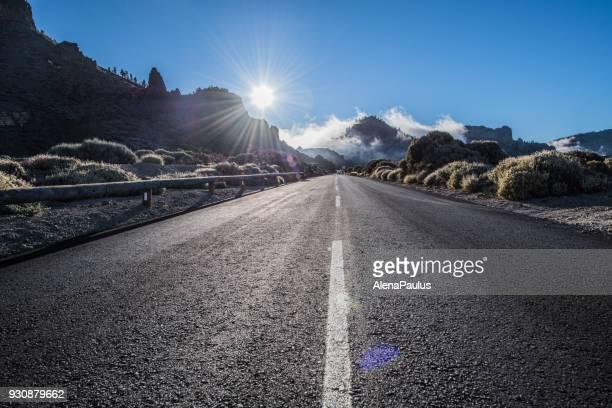Tenerife Car Road in El Teide National Park
