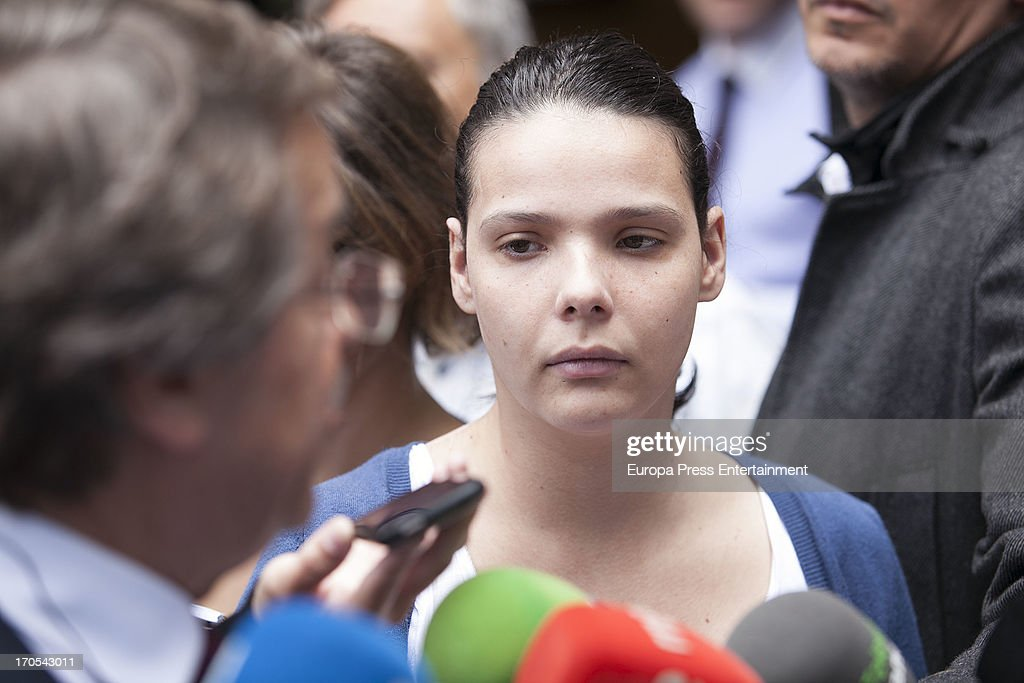 Tenerife Carnival Queen Saida Prieto attends court on June 13, 2013 in Santa Cruz de Tenerife, Spain. The 25 years-old girl, aspiring as carnival Queen, was severely burned last February after fireworks of another Queen's dress burnt her costume during Carnival Parade.
