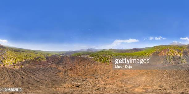 tenerife el teide volcano aerial 360° hdr panorama - high dynamic range imaging stock pictures, royalty-free photos & images
