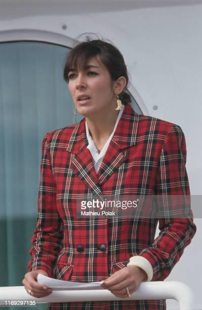 Tenerife Mort du magnat et homme politique britannique Robert Maxwell Ici sa fille Ghislaine Maxwell sur le yacht de son père Le Lady Ghislaine Elle...