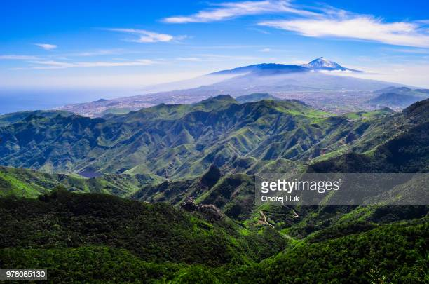 tenerife volcanic landscape, mount teide, tenerife, canary islands, spain - pico de teide stock pictures, royalty-free photos & images