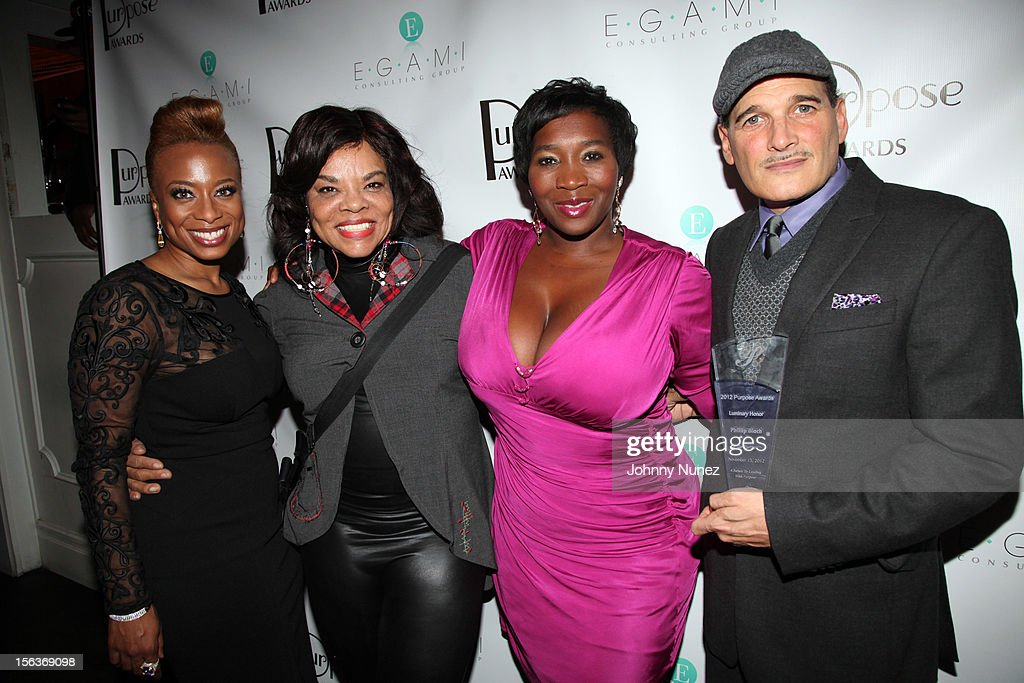 Teneshia Jackson Warner, Jamie Foster Brown, Bevy Smith and Phillip Bloch attend the 2012 EGAMI Consulting Group Purpose Awards at Beauty & Essex on November 13, 2012 in New York City.