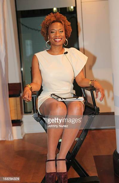 Teneshia Warner attends the Urban Works Influencer 360 Hispanic Culture Marketing Panel Event at Helen Mills Event Space on October 2 2012 in New...