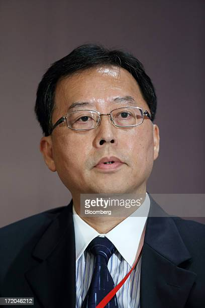 Teng Lin Seng chairman of the Monetary Authority of Macau speaks during a session at the Lujiazui Forum in Shanghai China on Saturday June 29 2013...