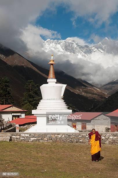 Tengboche Monastery, Chorten and Himalayan peaks