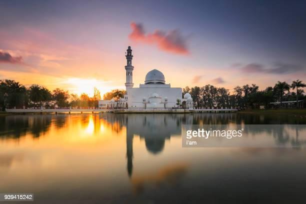 Tengku Tengah Zaharah Mosque or the Floating Mosque is the first real floating mosque in Malaysia, situated in Kuala Ibai Lagoon near to Kuala Terengganu, Malaysia