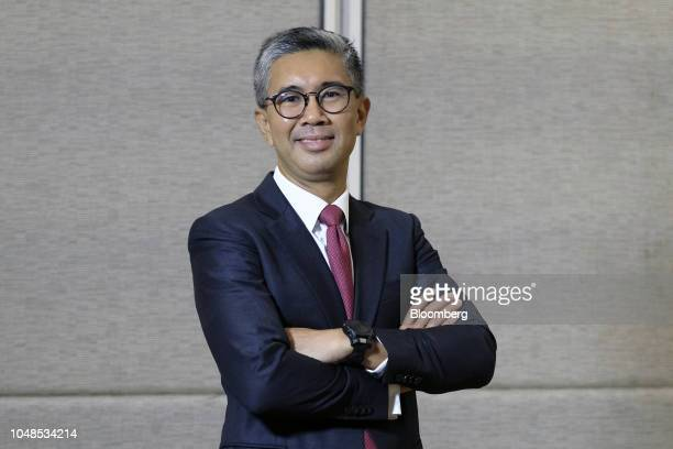 Tengku Zafrul Abdul Aziz chief executive officer of CIMB Group Holdings Bhd poses for a photograph after a Bloomberg Television interview at the New...