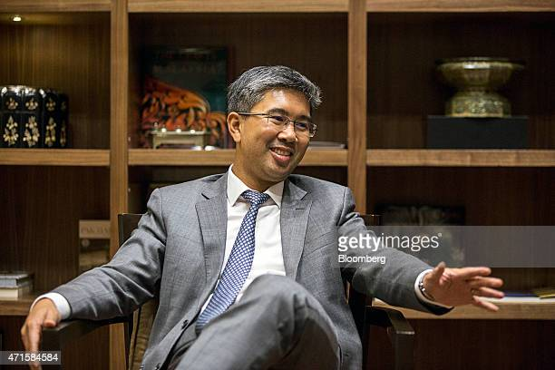 Tengku Zafrul Aziz chief executive officer of CIMB Group Holdings Bhd speaks during an interview in Kuala Lumpur Malaysia on Wednesday April 29 2015...