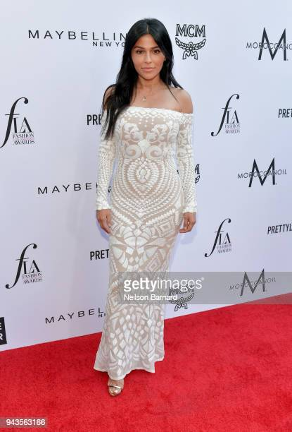 Teni Panosian attends The Daily Front Row's 4th Annual Fashion Los Angeles Awards at Beverly Hills Hotel on April 8 2018 in Beverly Hills California