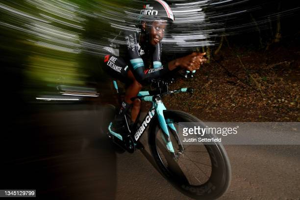 Teniel Campbell of Trinidad and Tobago and Team BikeExchange sprints during the 7th The Women's Tour 2021 - Stage 3 a 16,6km Individual time trial...