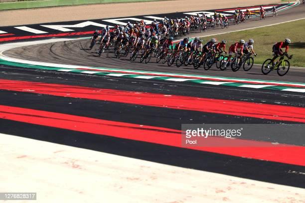 Teniel Campbell of Trinidad And Tobago / Peloton / Autodromo Enzo e Dino Ferrari / during the 93rd UCI Road World Championships 2020, Women Elite...