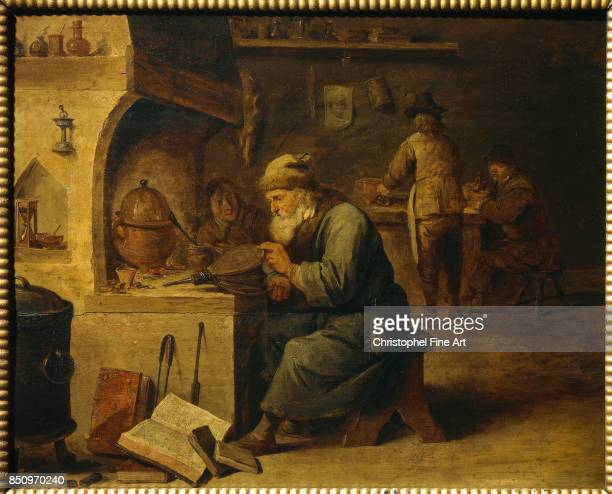 Teniers David The Younger An Alchemist Bayonne Bonnat Museum