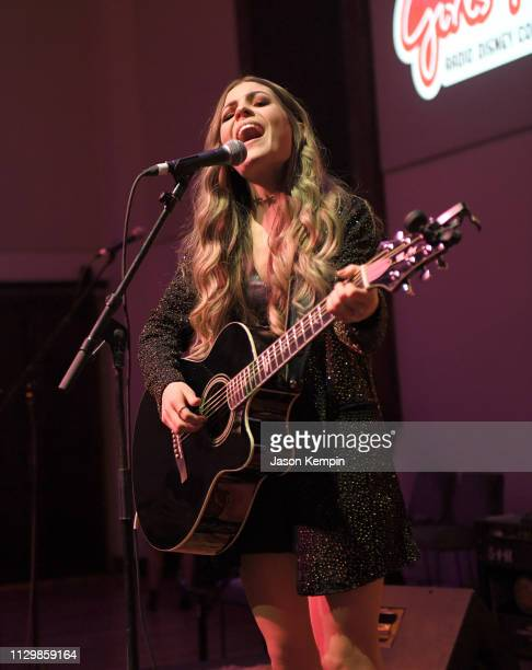 Tenille Arts performs at the Radio Disney Country Let The Girls Play Pop Up Show at The Bell Tower on February 14 2019 in Nashville Tennessee