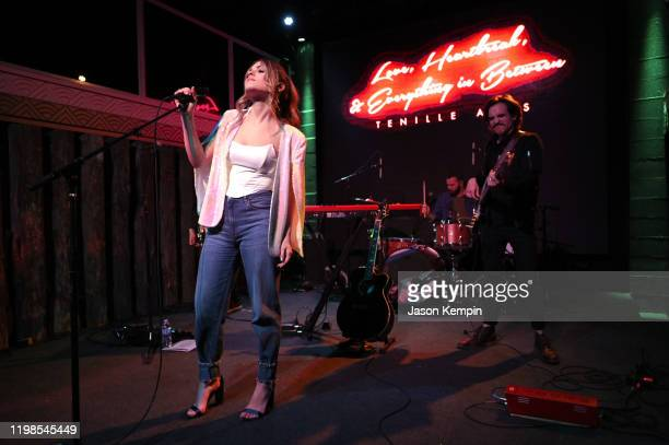 Tenille Arts performs at the Tenille Arts Album Release Show at The Back Corner on January 09 2020 in Nashville Tennessee