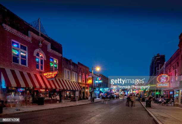 USA, Tennessee, Beale Street at twilight