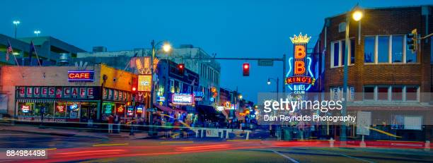 usa, tennessee, beale street at twilight - memphis tennessee stock pictures, royalty-free photos & images