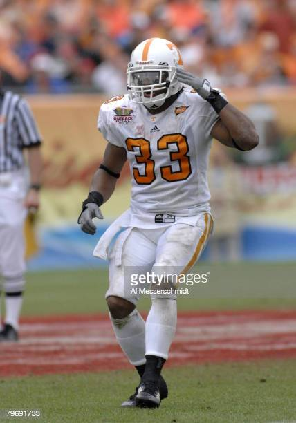 Tennessee defensive back Jonathan Hefney during the 2007 Outback Bowl between Penn State and Tennessee at Raymond James Stadium in Tampa, Florida on...