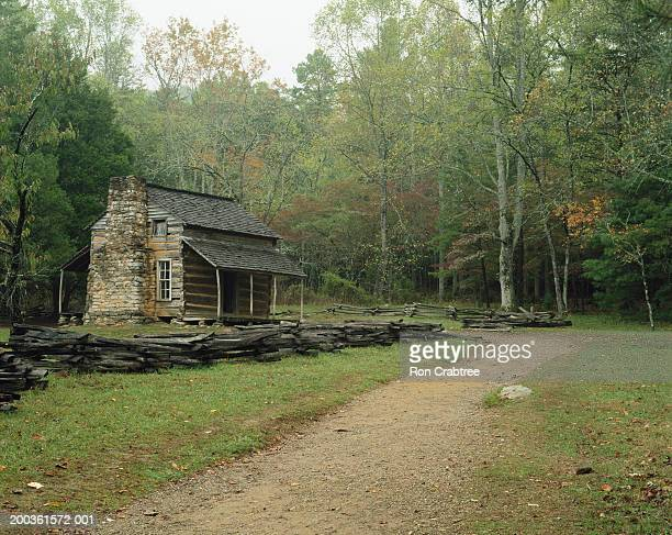 usa, tennessee, great smoky mountains national park, john oliver cabin - cades cove stock pictures, royalty-free photos & images