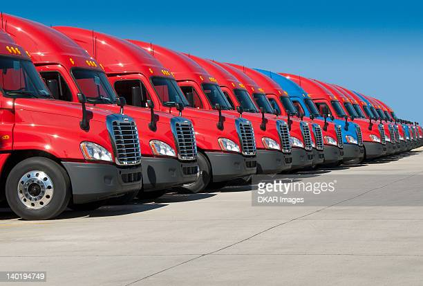 USA, Tennessee, Jackson, New semi trucks