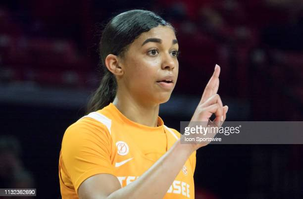 Tennessee Lady Vols guard Evina Westbrook at the free throw line during a NCAA Div 1 Women's championship first round game between the Tennessee Lady...