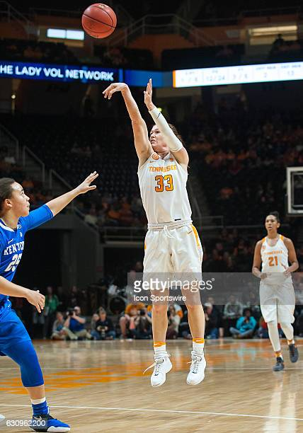 Tennessee Lady Volunteers guard Alexa Middleton takes a shot over Kentucky Wildcats guard Makayla Epps during a game between the Tennessee Lady...