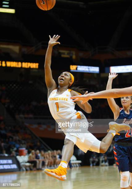 Tennessee Lady Volunteers guard Anastasia Hayes drives to the basket during a game between the CarsonNewman Eagles and Tennessee Lady Volunteers on...