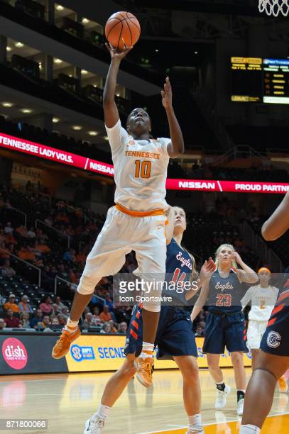 Tennessee Lady Volunteers guard Meme Jackson shoots a layup during a game between the CarsonNewman Eagles and Tennessee Lady Volunteers on November 7...