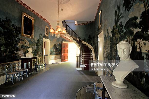 Tennessee Nashville The Hermitage Entry Hall Scenic French Wallpaper Andrew Jackson Home Staircase