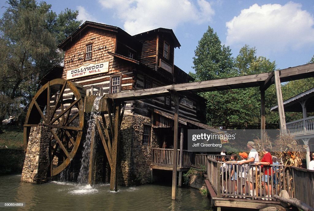 Tennessee, Dollywood, Replica Of Grist Mill : News Photo