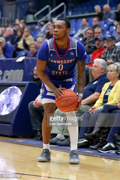Tennessee State Tigers guard Armani Chaney looks to shoot during the first half of the college basketball game between the Tennessee State Tigers and...