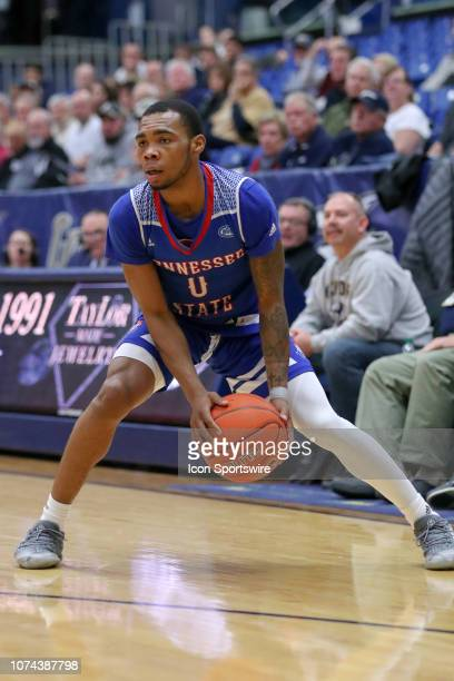 Tennessee State Tigers guard Armani Chaney with the basketball during the first half of the college basketball game between the Tennessee State...