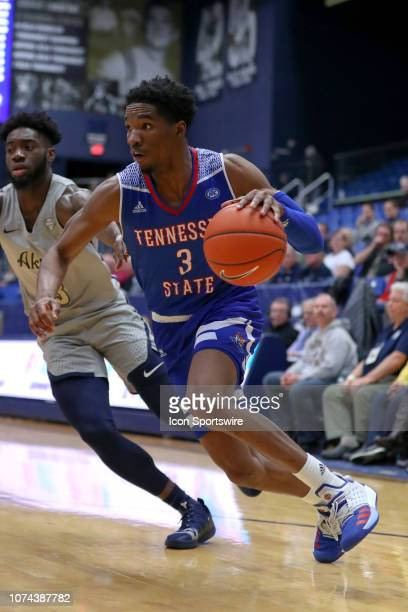 Tennessee State Tigers guard Donte FitzpatrickDorsey drives to the basket during the first half of the college basketball game between the Tennessee...