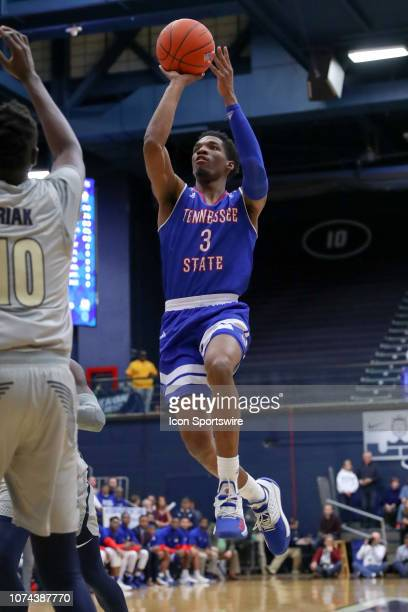 Tennessee State Tigers guard Donte FitzpatrickDorsey shoots during the first half of the college basketball game between the Tennessee State Tigers...