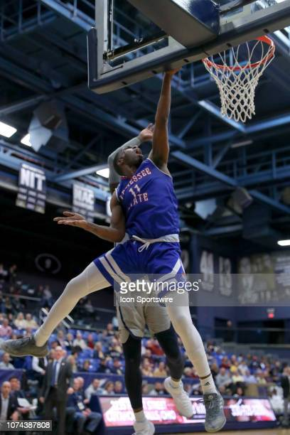 Tennessee State Tigers guard Kamar McKnight shoots during the first half of the college basketball game between the Tennessee State Tigers and Akron...
