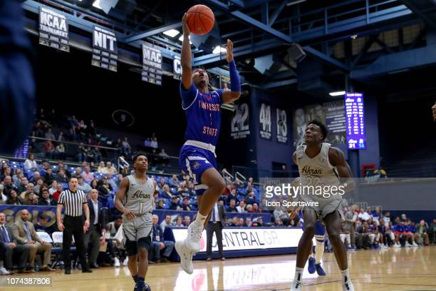 Tennessee State Tigers guard Michael Littlejohn drives to the basket during the first half of the college basketball game between the Tennessee State...