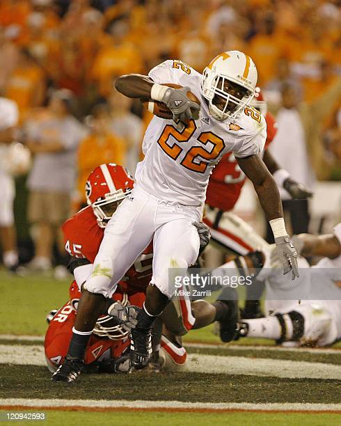 Tennessee TB LaMarcus Coker during the game between the Georgia Bulldogs and the Tennessee Volunteers at Sanford Stadium in Athens, GA on October 7,...