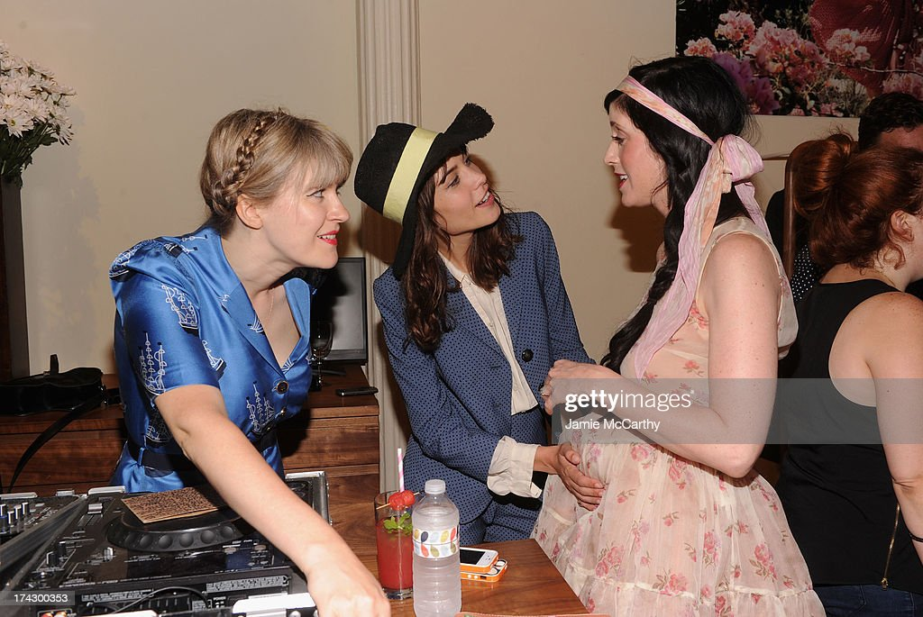 Tennessee Thomas, Alexa Chung, and Sarah Sophie Flicker attend the Orla Kiely for Target Preview Party on July 23, 2013 in New York City.