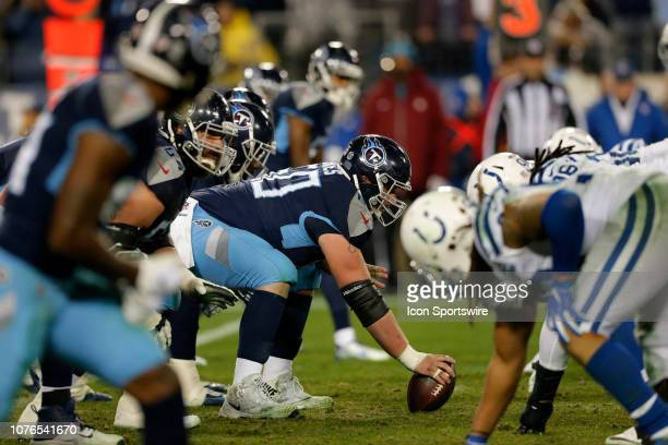 Tennessee Titans Center Ben Jones prepares to snap the ball during the NFL game between the Tennessee Titans and Indianapolis Colts on December 30 at...