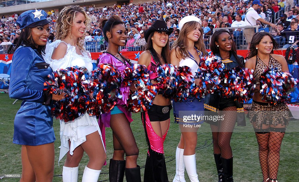 Tennessee Titans cheerleaders pose in Halloween costumes during game against the Oakland Raiders at The Coliseum  sc 1 st  Getty Images & Oakland Raiders vs Tennesee Titans - October 30 2005 Pictures ...